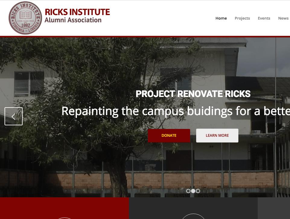 Website by Bunz Web Design Ricks Alumni Assoc.