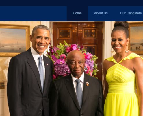 Website Template for Liberia VP Joseph Boakai
